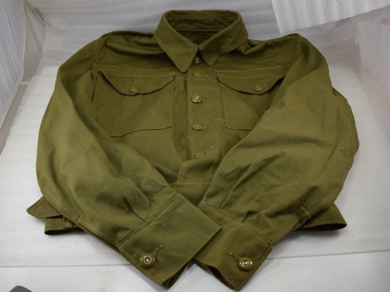 WW2 British Army & Home Guard Denim BD Blouse 1942 Over Stamped 1944