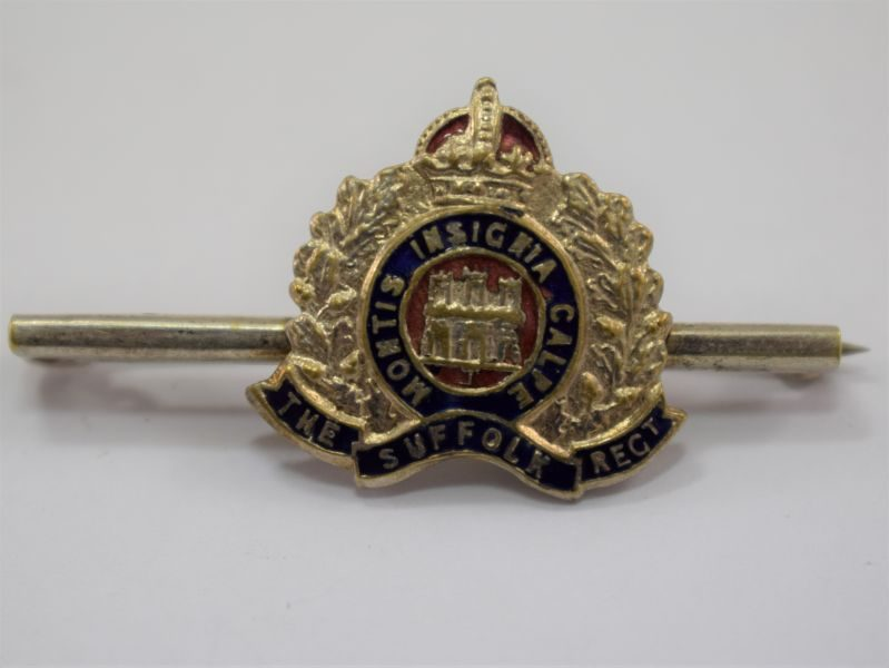 WW1 WW2 Sweetheart Brooch The Suffolk Regiment