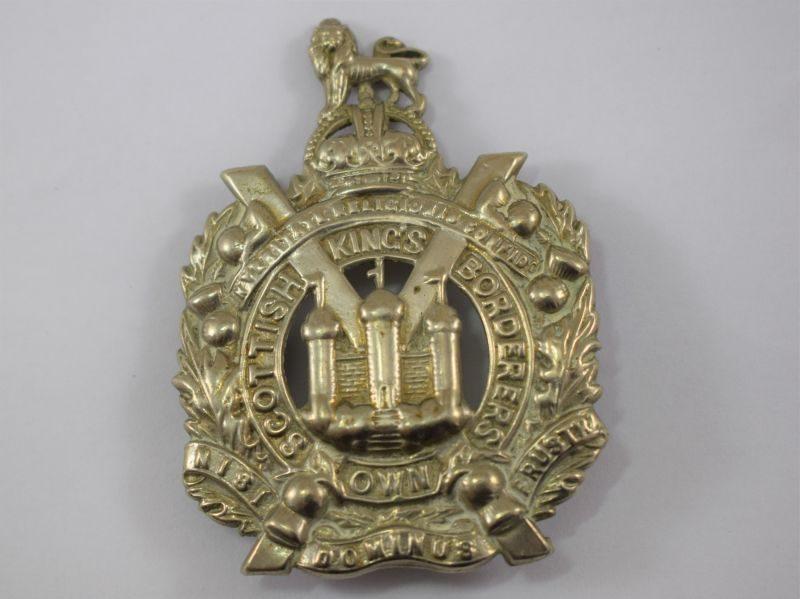 Original WW1 WW2 Kings Own Scottish Borderers Cap Badge