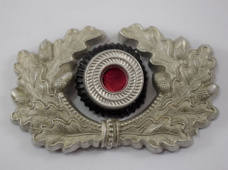 Good Original WW2 German Army Officers Cap Wreath & Cockade