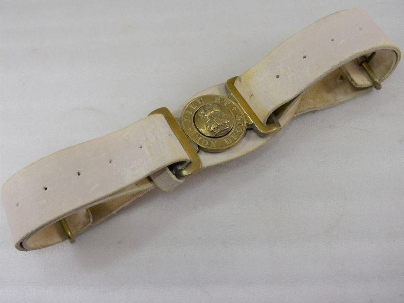 Excellent WW1 WW2 British Army General Service Buff Leather Dress Belt