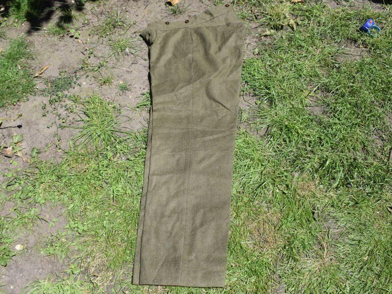 Original WW2 Australian Army Issue Wool Trousers Dated 1945