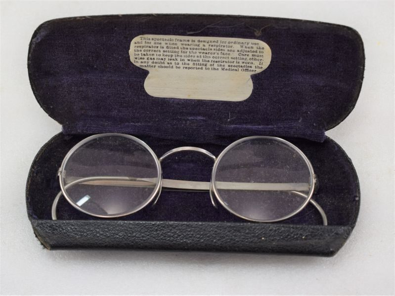 WW2 British Army Issue Spectacles For Use When Wearing The Service Respirator