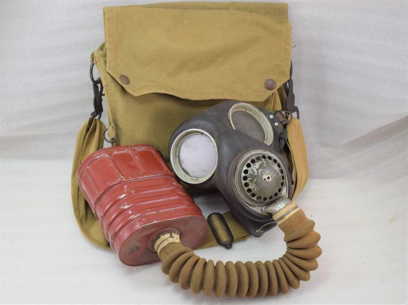 1941 Dated British Military Service Respirator & 1941 Dated Haversack