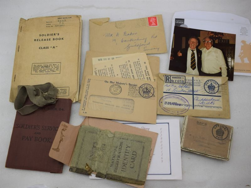 WW2 Paperwork Group to PA Baker RPC, Also KIA Medal Box & Medal Condolence Slip