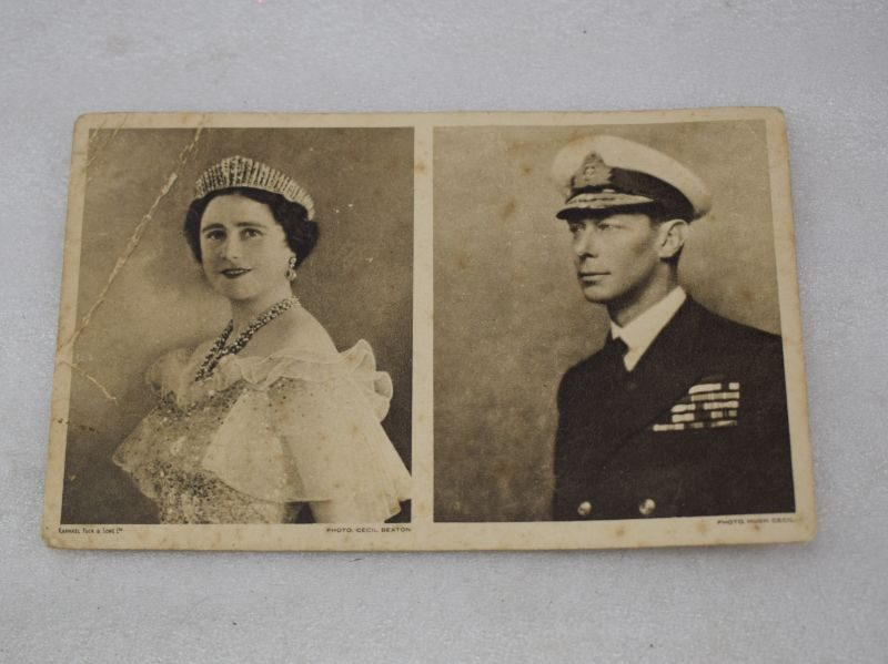 Original WW2 BEF Christmas Card From the King & Queen Christmas 1939