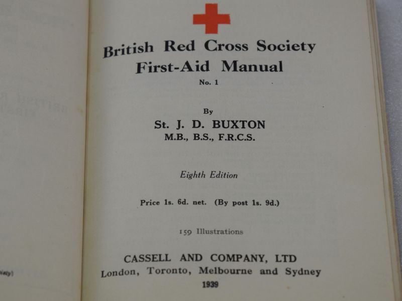 WW2 British Red Cross Society First-Aid Manual No1 dated 1939