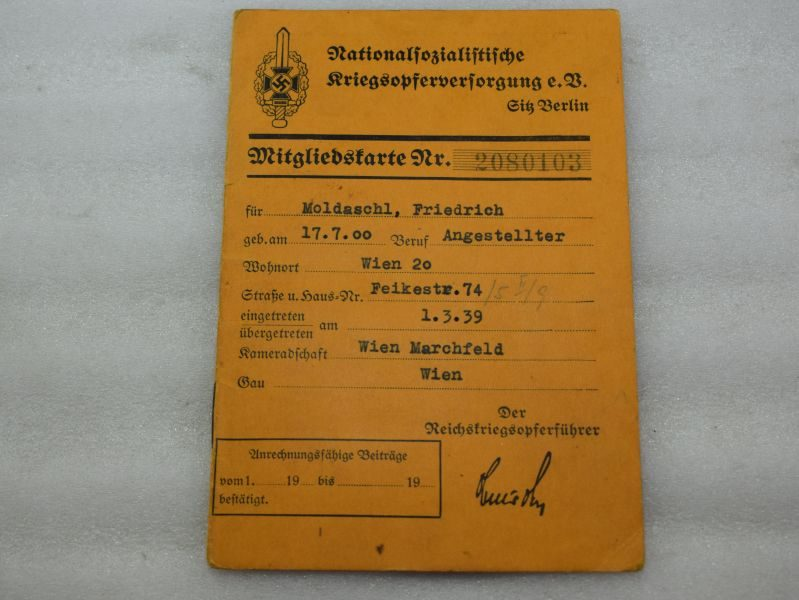 Original WW2 German NSDAP War Savings Card ?