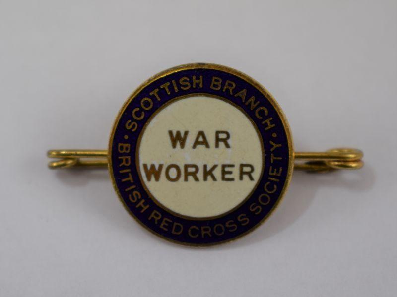 14 Nice WW1 WW2 War Worker Scottish Branch British Red Cross Society Enamel Badge