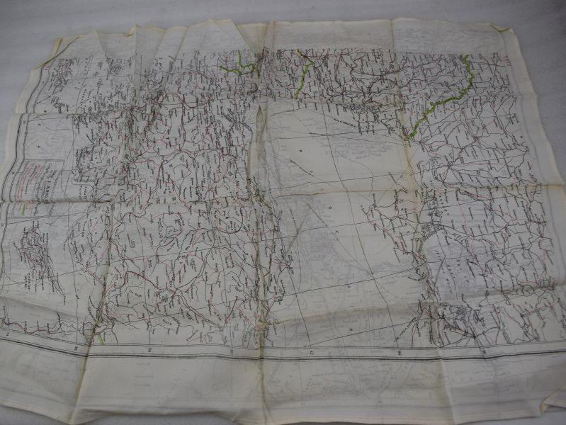 Original WW2 RAF Escape Map T1/T3 Africa/Europe Etc Egypt, Syria, Iraq, Turkey, Cyprus, Crete, Russia Etc