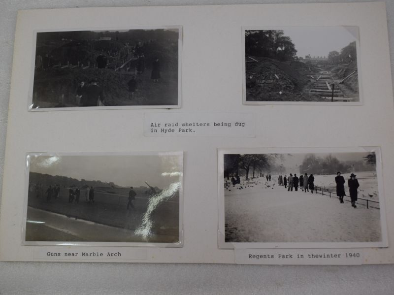 Fascinating Original Photos Air Raid Shelters Being Dug in Hyde Park 1939, AA Guns etc