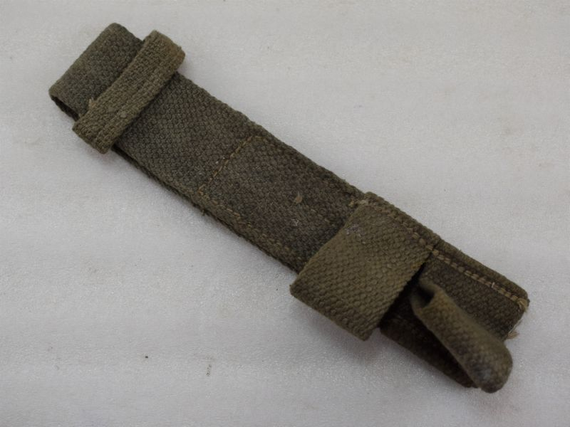 2 WW2 Indian Made British Army Bayonet Frog in Jungle Green 1945