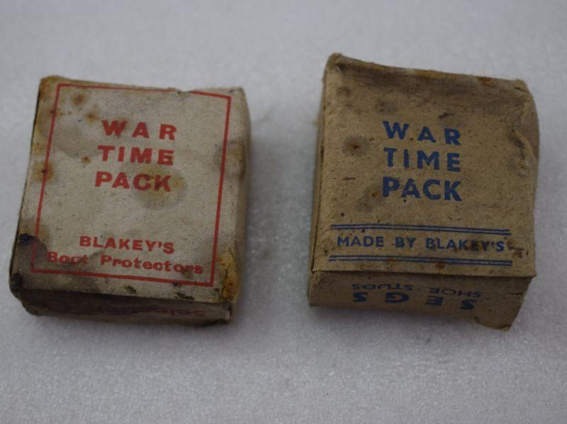 WW2 Blakey's Boot Protectors & Segs Shoe Studs in Wartime Packs