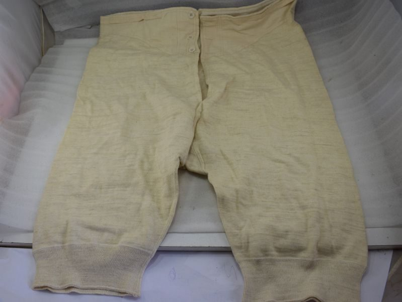 Unissued British Army Long Woollen Underpants Dated 1940