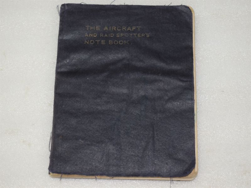 WW2 Aircraft and Spotters Note Book With some hand-written aircraft sightings