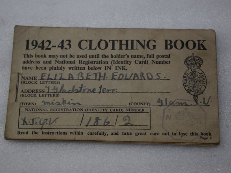 Original 1942-43 Clothing Book of Clothing Rationing Coupons