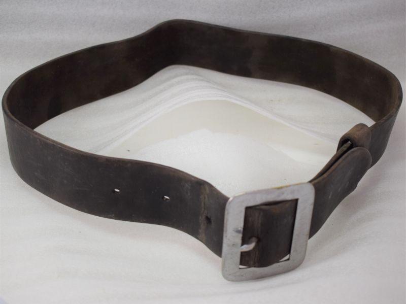 WW2 Era Fireman's Heavy Duty Leather Waist Belt & Buckle