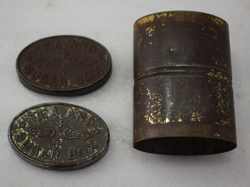 WW1 Era Tea & Sugar Box for Tea & Sugar Rations, Camping etc