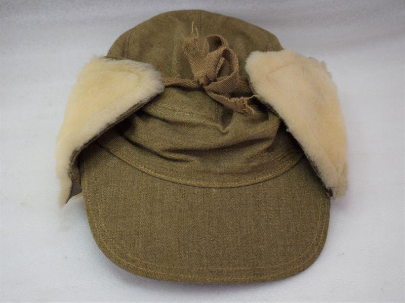 Original WW2 British Army Issue Ski Cap & Added Fleece for Warmth