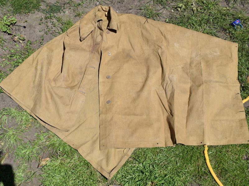 WW2 British Army Issue Khaki Groundsheet Cape