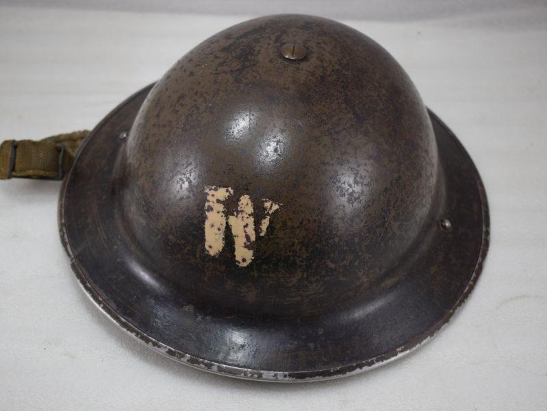 Excellent WW2 British Air Raid Wardens Helmet & Liner, both dated 1938