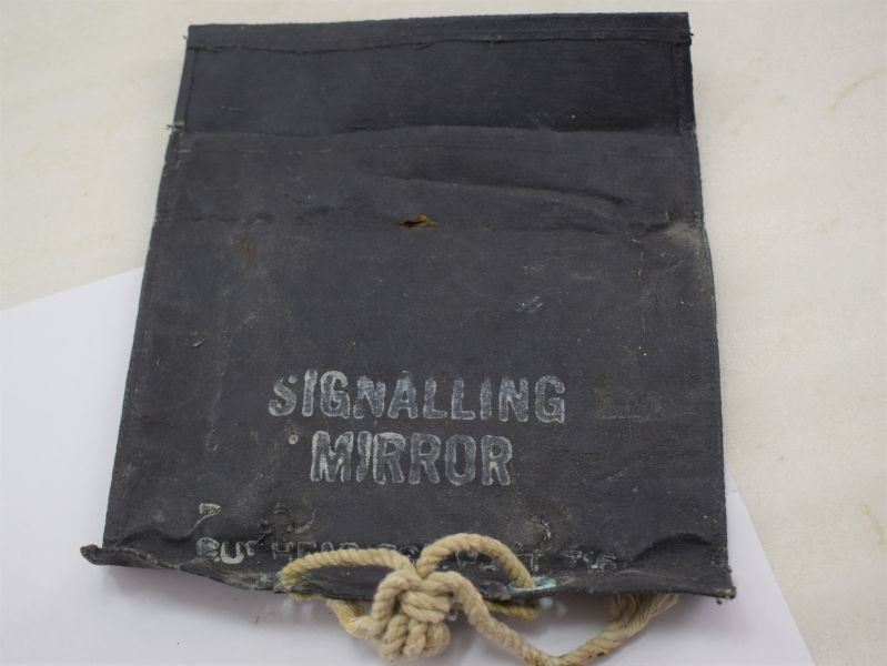 WW2 Royal Navy USN ? Signalling Mirror Pouch