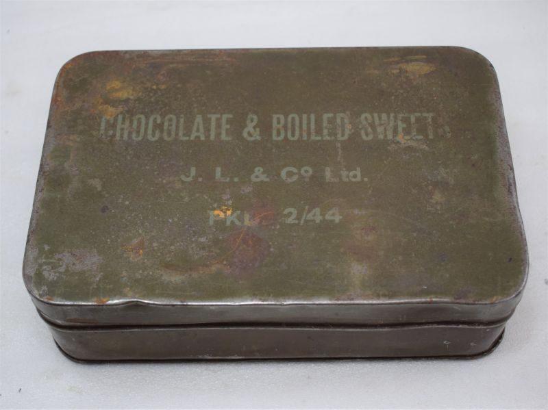 WW2 British Army Chocolate & Boiled Sweets Tin J.L. & Co Ltd 2/44