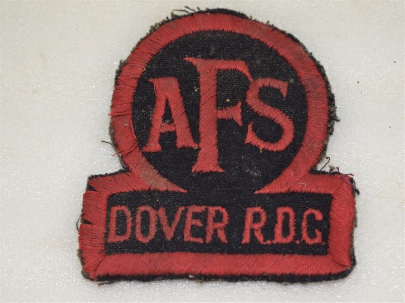 Original Early WW2 Large AFS Dover RDC Fireman's Tunic Badge