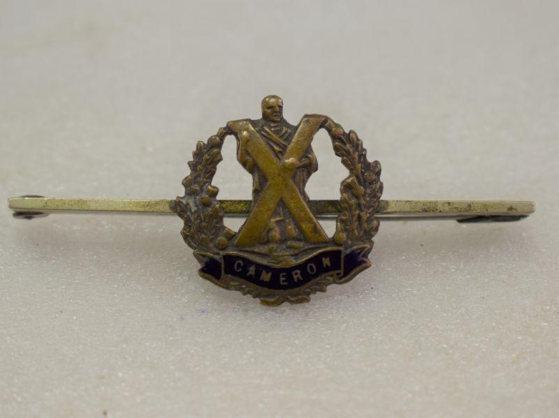 4 WW1 WW2 Cameron Highlanders Sweetheart Brooch