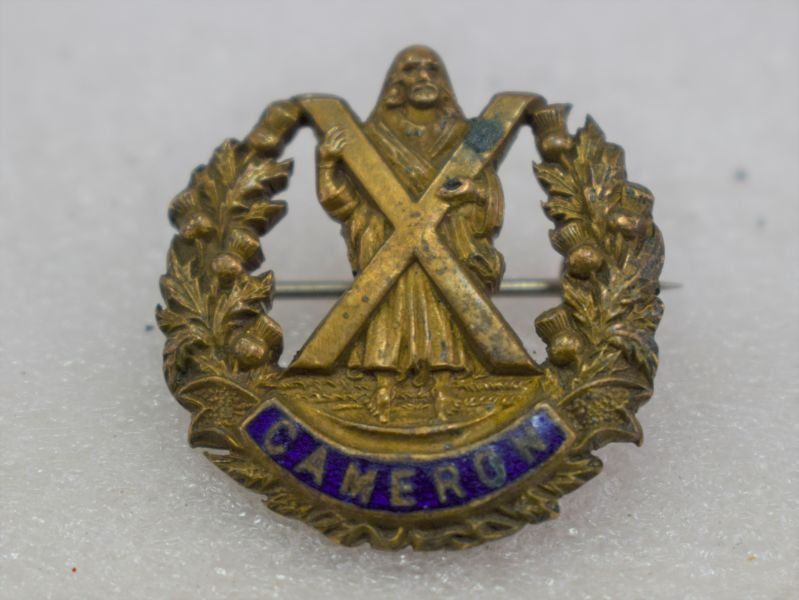 5 WW1 WW2 Cameron Highlanders Pin Back Sweetheart Brooch