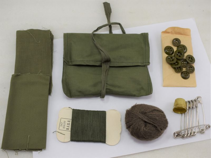 British Army Tropical Issue Housewife Sewing Kit of Rubberised Waterproof Material.