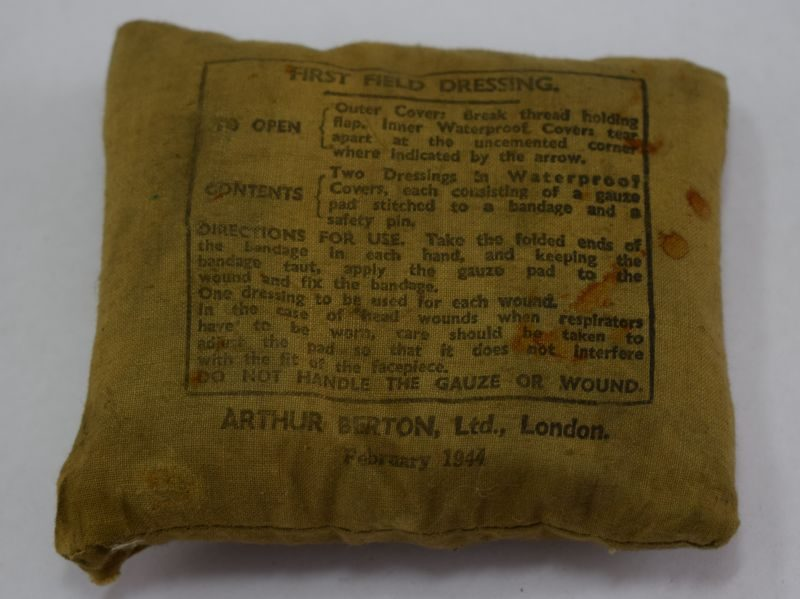 WW2 British Army First Field Dressing Dated 1944