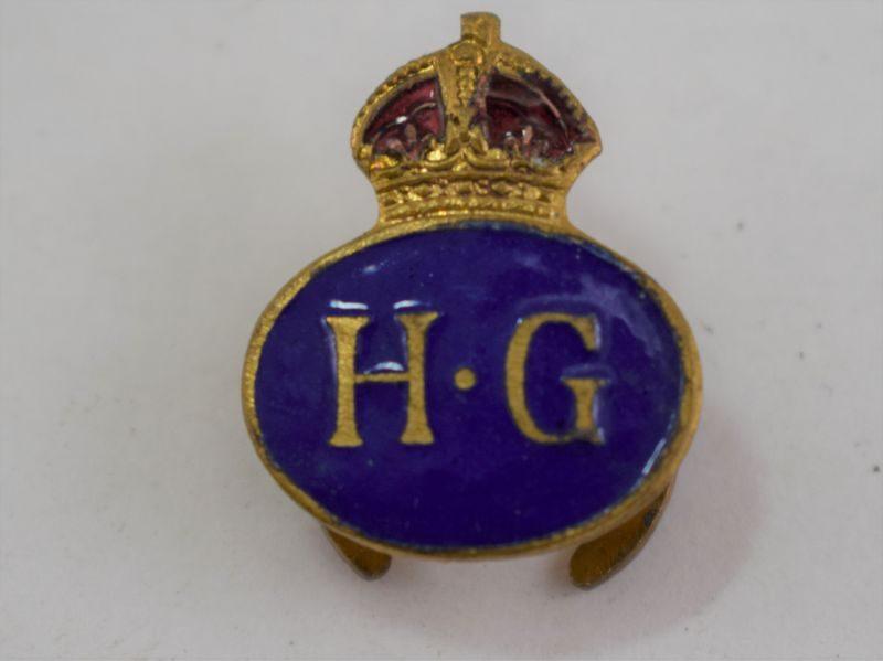 Original WW2 Home Guard Members Enamelled Lapel Badge