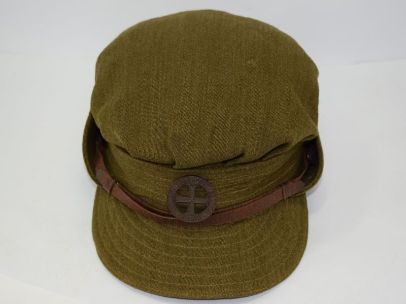 Excellent Original WW2 FANY Officers High Quality Cap & Bronze Badge