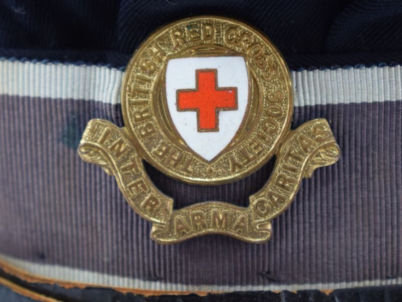 Excellent Original WW2 Female VAD Officers Cap British Red Cross Society