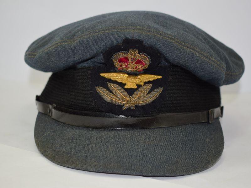 Nice Early WW2 RAF Officers Peaked Cap With Green Peak Underside