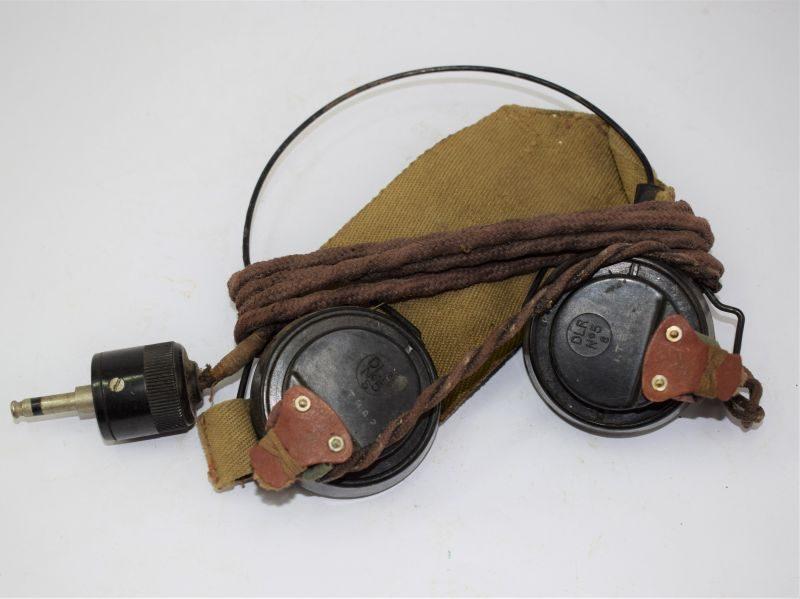 11 WW2 British Army Wireless Set Head Phones Receivers DLR No5