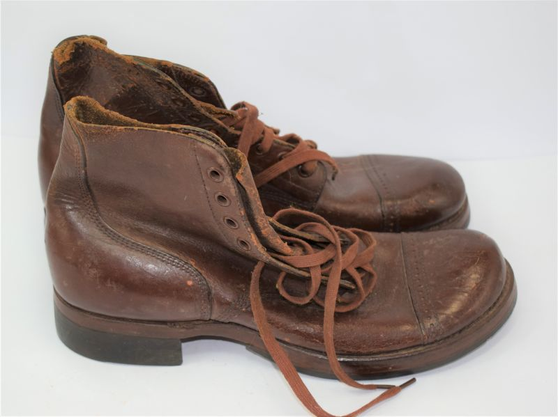 Original WW2 US Army Issue Ankle Boots Dated 1942