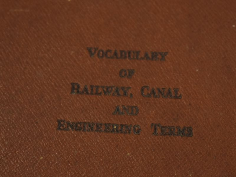 British Military Vocabulary of Railway, Canal & Engineering Terms 1943