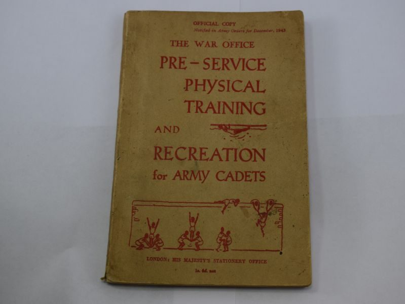 1944 Dated Pre-Service Physical Training & Recreation for Army Cadets
