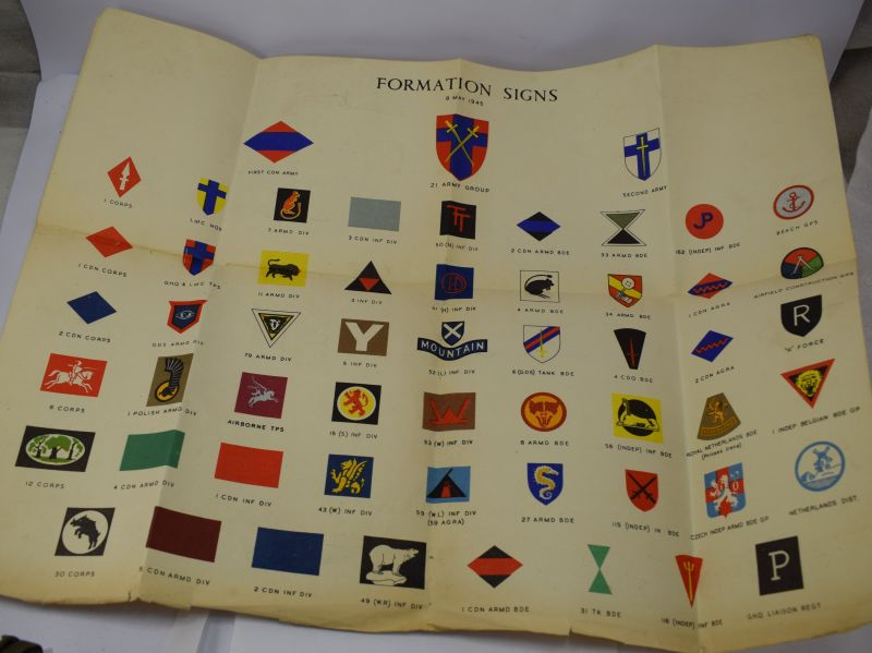 Ww2 British Army Formations Signs Poster Dated May 1945