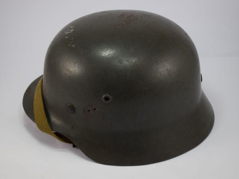 Original WW2 German Luftwaffe M35 Helmet & Liner Large Size 66
