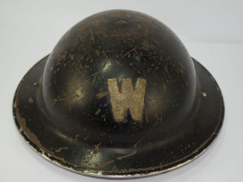 Original Untouched Air Raid Wardens Steel Helmet & Liner