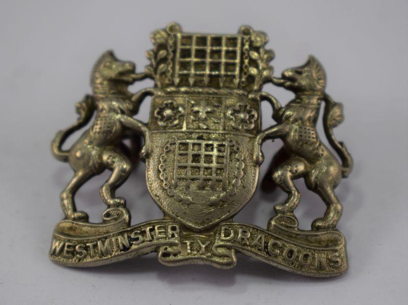 Original WW1 Cap Badge Collar Badge? Westminster Dragoons TY