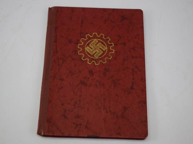 4 Original WW2 Nazi German Workers Front Members Book