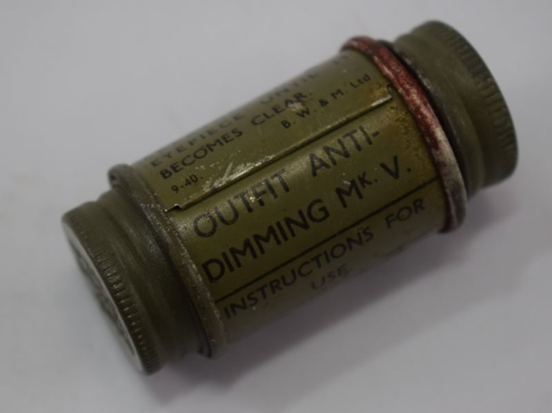 WW2 British Military Outfit Anti-Dimming MkV dated 1940