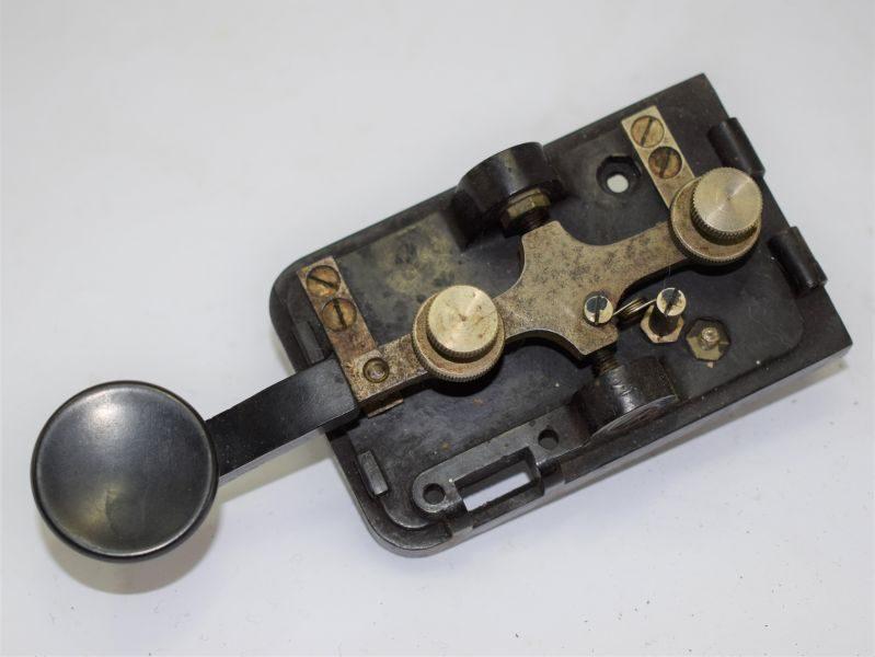 WW2 US Army Morse Code Key On Bakelite Base