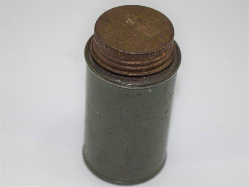 Small WW2 British Army Brass Polish? Tin Dated 1944