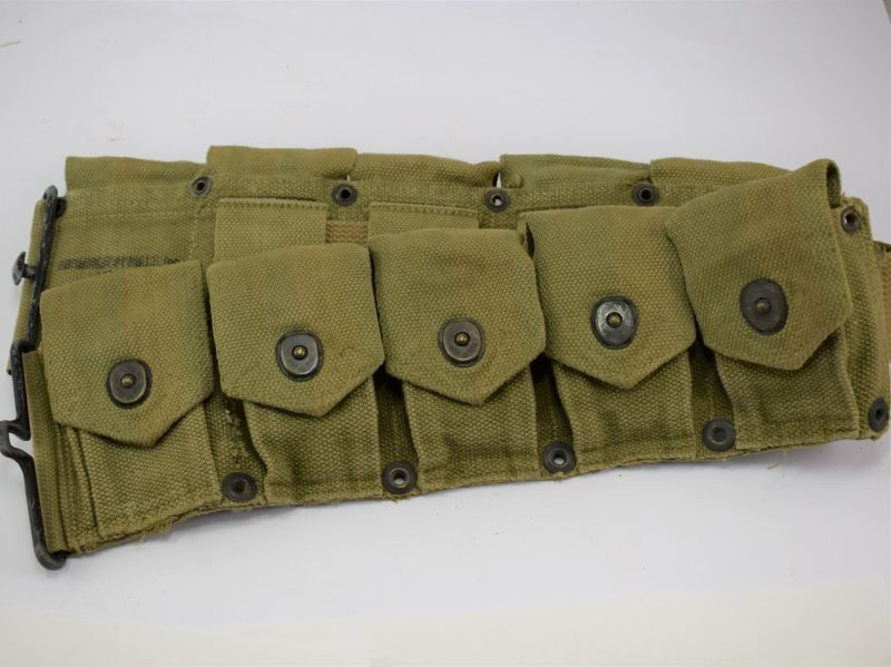 Excellent Original WW2 US Army 10 Pocket Ammunition Belt 1942