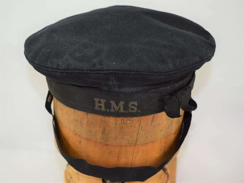 Original WW2 WRNS Issue Ratings Hat Dated 1943 & HMS Tally Band